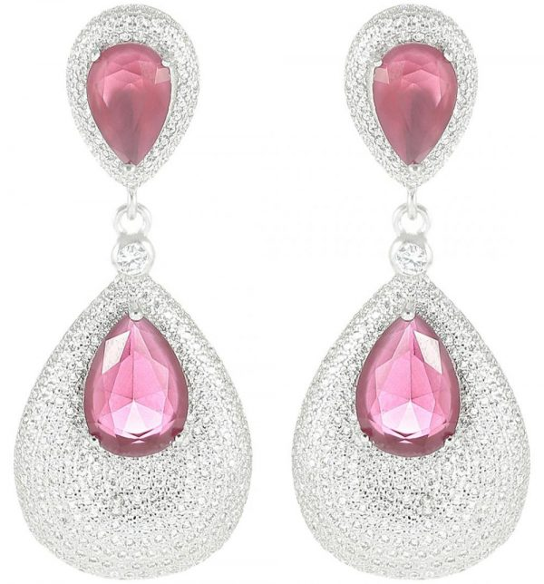 925 Silver Drop Microset Dangling Earrings ER65