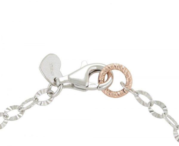 925 Silver Three Butterfly Tricolor Bracelet BR0022