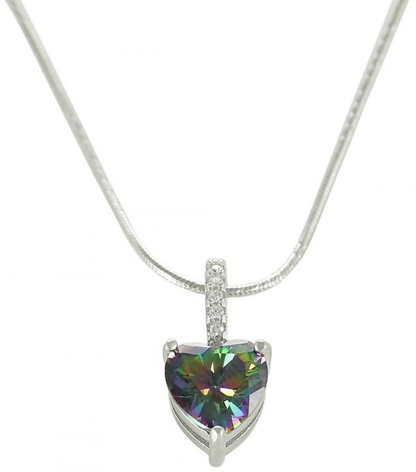 AK Jewels Silver Mystic Heart Jewelry Set JWSET0027