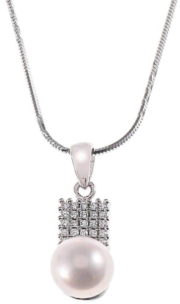 AK Jewels Silver Square with Pearl Jewelry Set JWSET0022