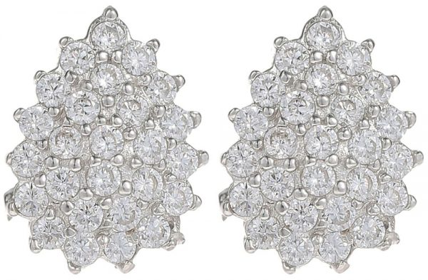 925 Silver Drop with CZ Earrings ER14
