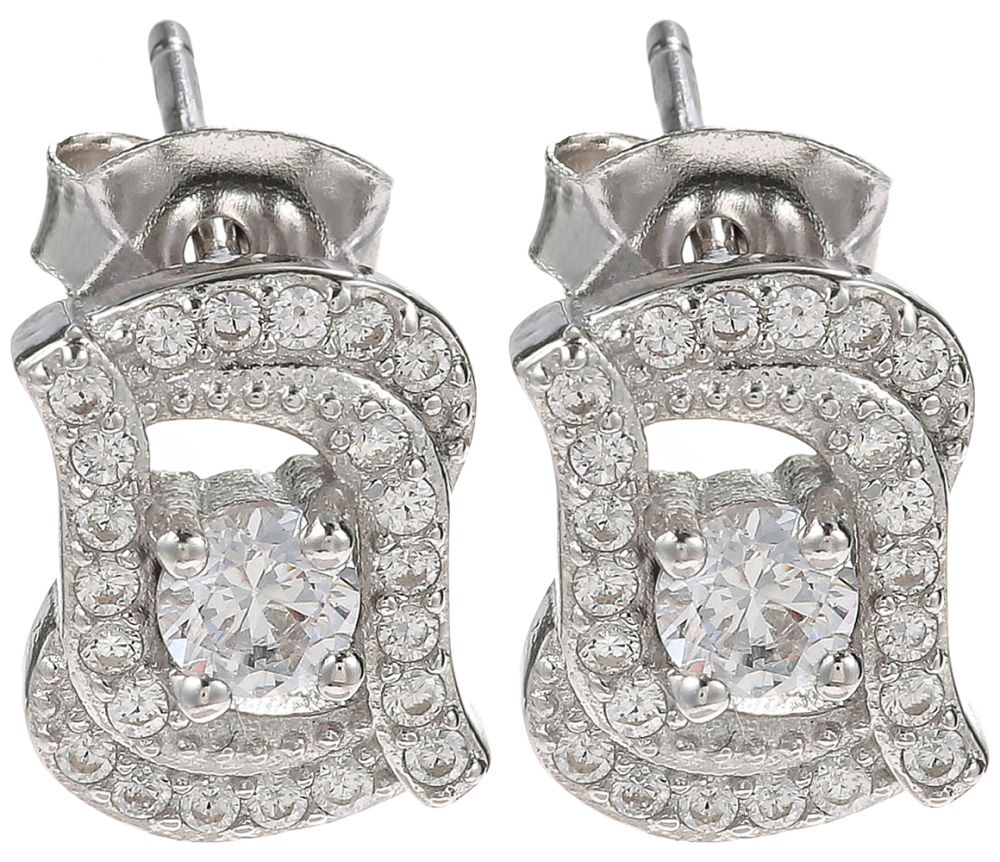 925 Silver CZ Stud Earrings ER37