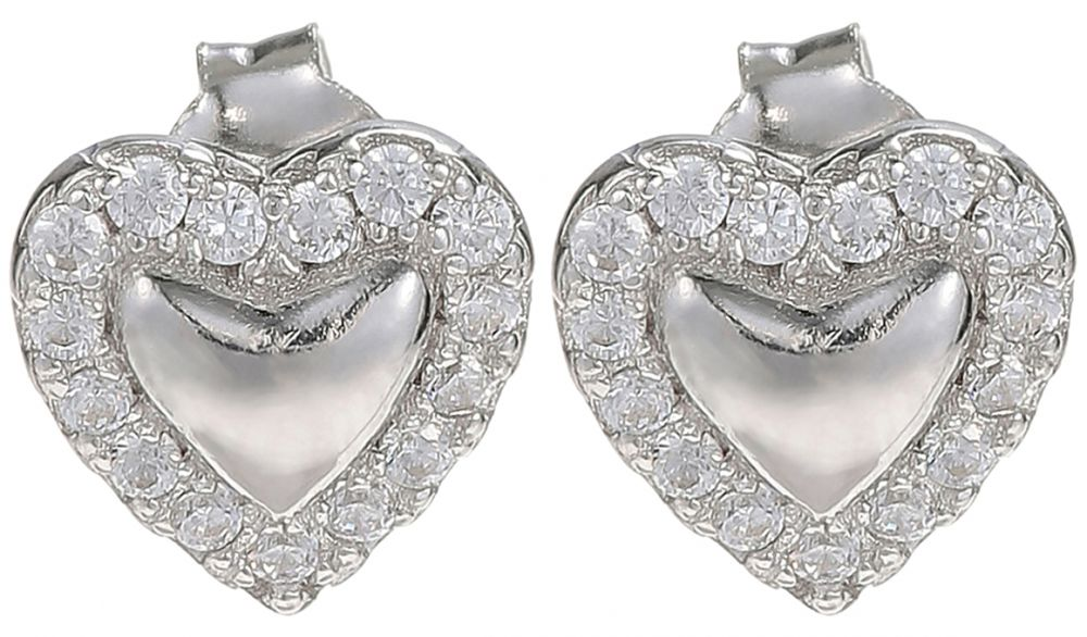 925 Silver Heart Earrings ER23