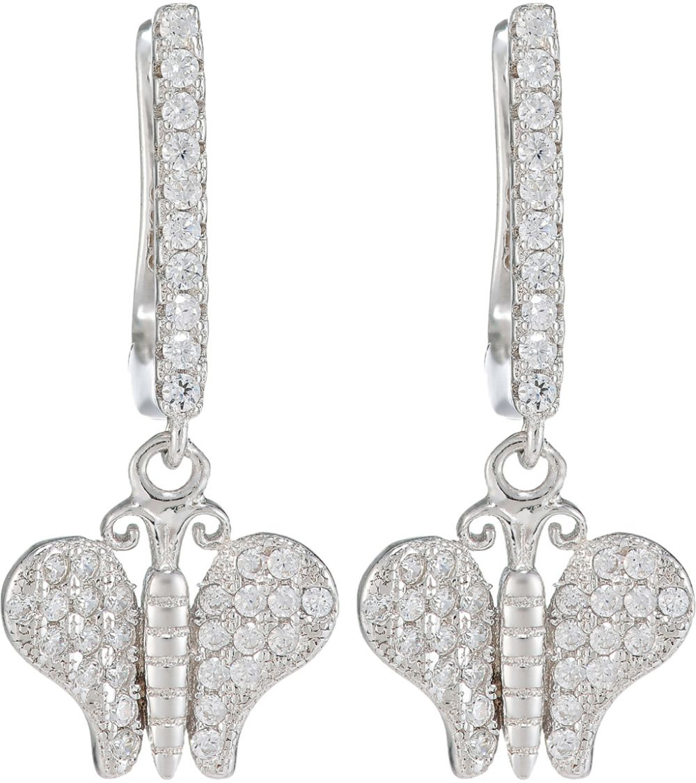 925 Silver Dangling Butterfly Earrings ER01