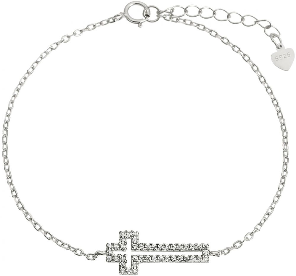 925 Silver Cross Frame Ladies Bracelet BR0062