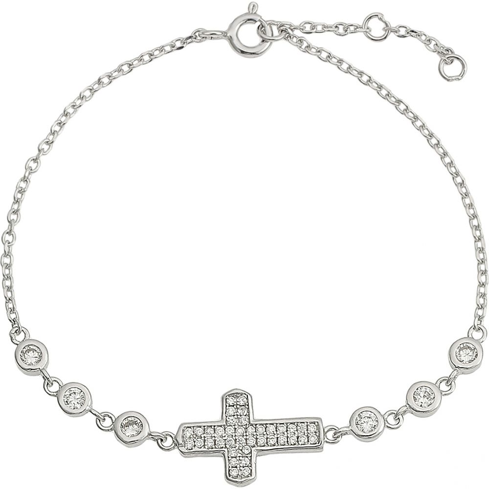 925 Silver Cross Charm Ladies Bracelet BR0001