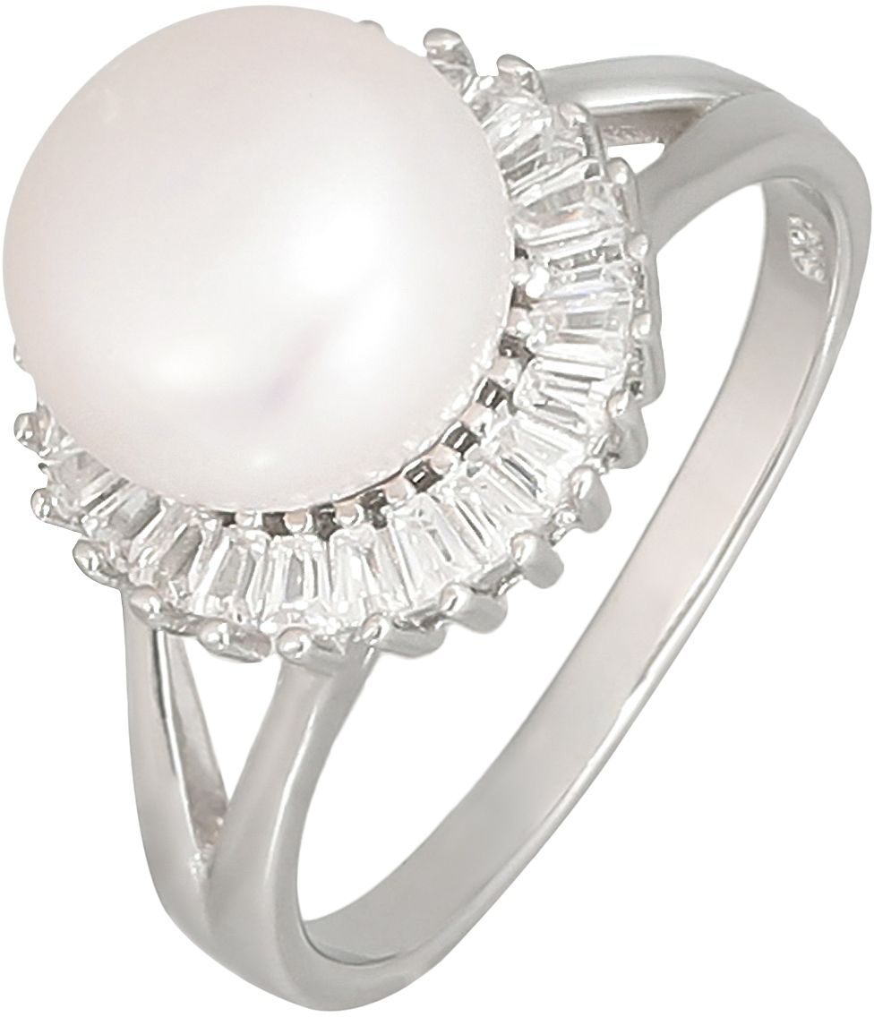 925 Silver Round Fresh Water Pearl Ring RG040