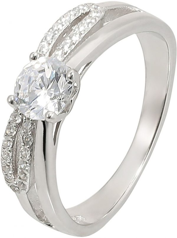 925 Silver Infinity Solitaire Ring RG034