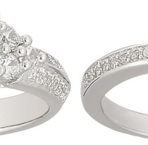 925 Silver Solitaire Double Ring RG028