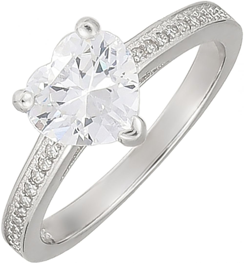925 Silver Heart Shape Solitaire Ring RG032