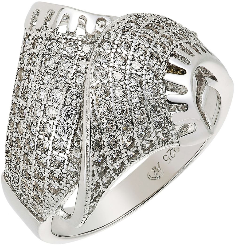 925 Silver Mirrored Microset Ladies Ring RG009
