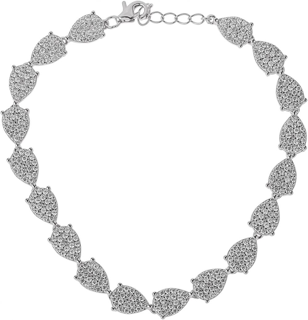 925 Silver Drop Shape Chain Bracelet BR0076