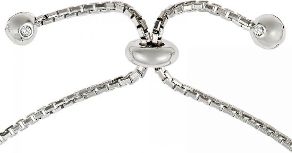 925 Silver Multi Heart Adjustable Bracelet BR1022