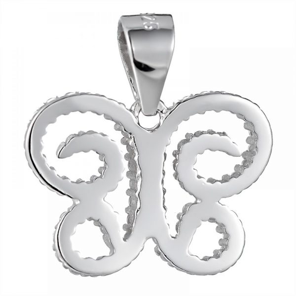 925 Silver Butterfly with CZ Pendant PD0031