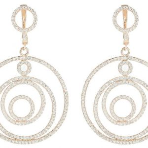 925 Silver Round Layered Earrings ER72
