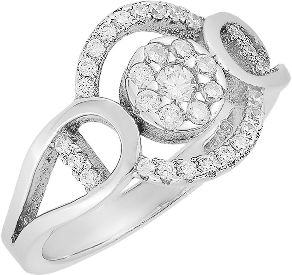 925 Silver Double Round Framed Ring RG083
