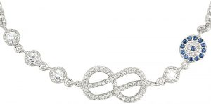 925 Silver Infinity with Round Pave Bracelet BR0019