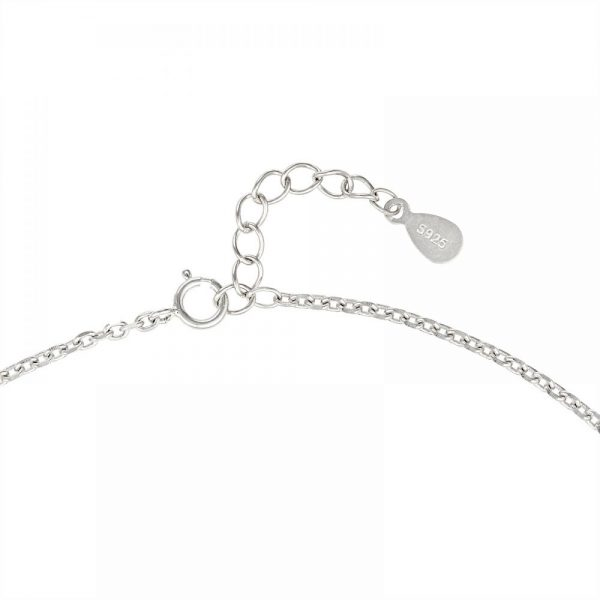 925 Silver Heart Charm Anklet ANK012