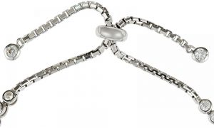 925 Silver Bar with Fatima Hand Adjustable Bracelet BR1021
