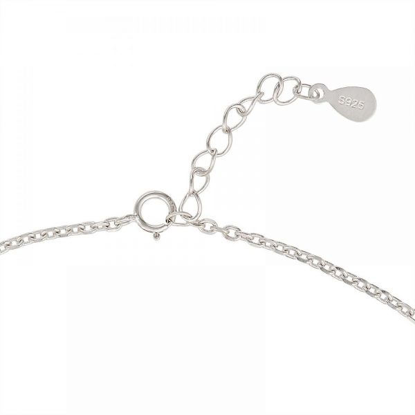 925 Silver Five Butterfly Charm Anklet ANK016