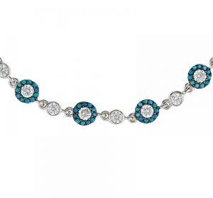 925 Silver Flower Turquoise Adjustable Bracelet BR1028