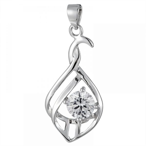 925 Silver Crystal Pendant PD0027